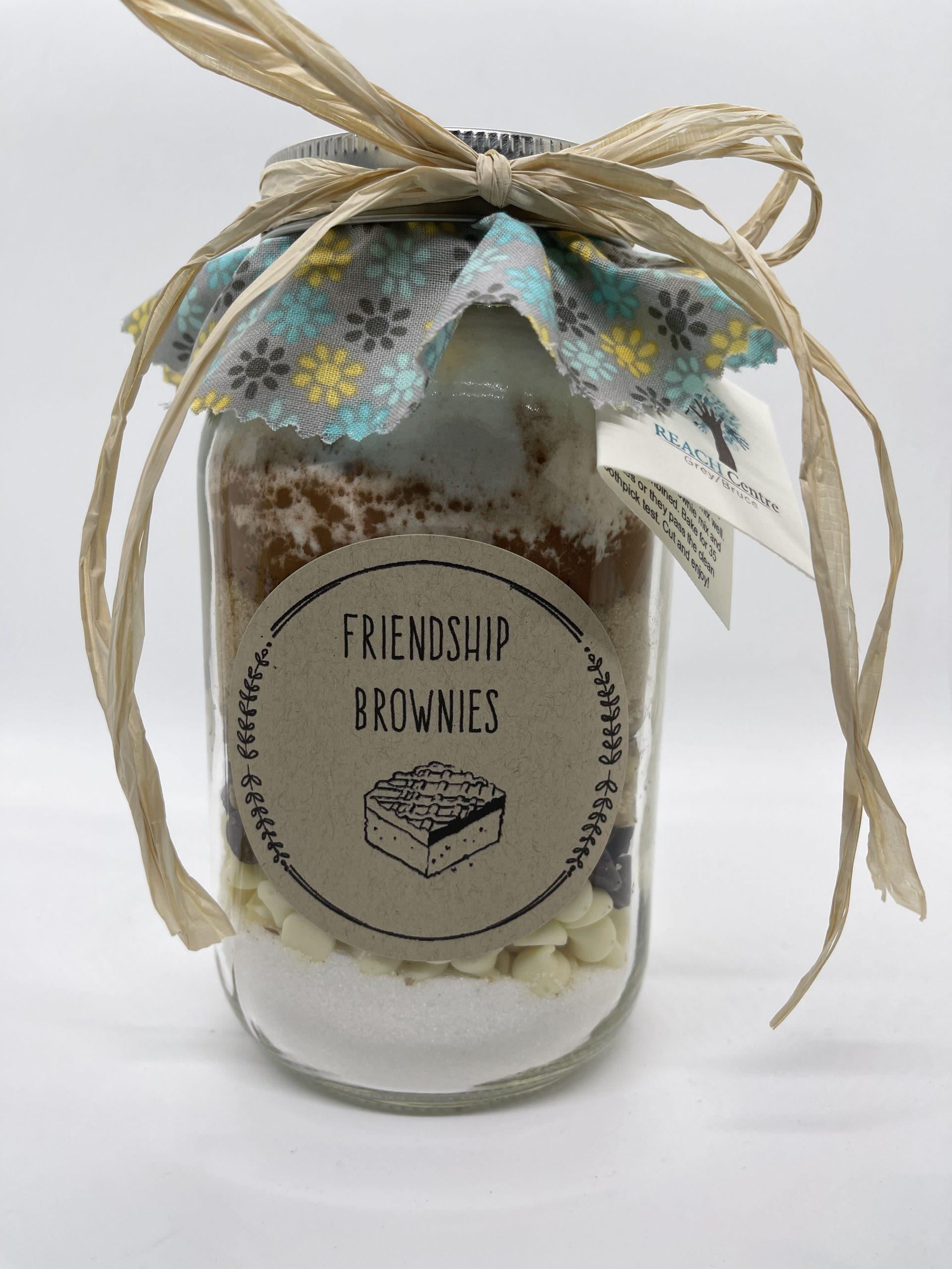 Friendship Brownies in a Jar